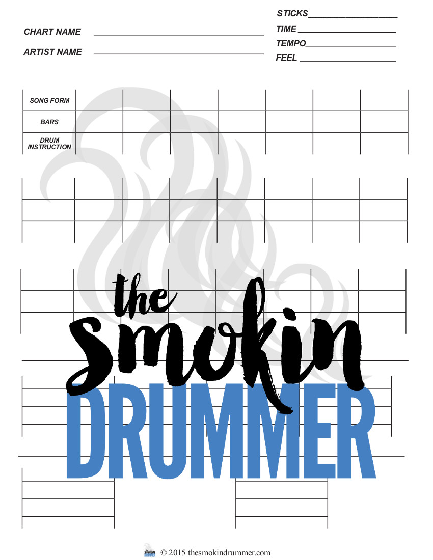 blank charting templates easy drum chart