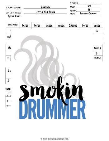 how to write a fast and easy drum chart