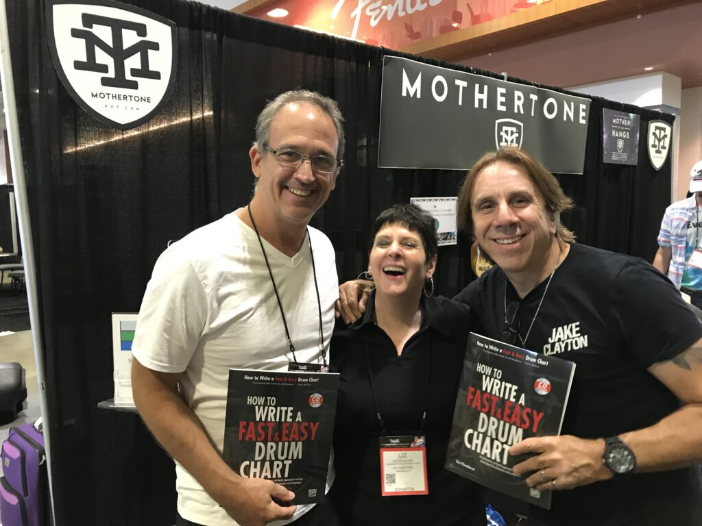 NAMM Show Booth for Drum Chart Builder. Endorsed by Troy Luccketta and Sean Paddock