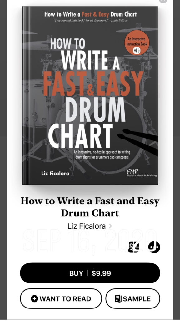 How to Write a Fast and Easy Drum Chart in Apple Books